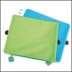 Sitzkissen mit Logo hellblau-grün